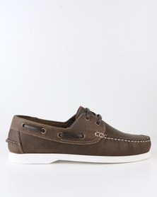 New Look Leather Boat Shoe Brown