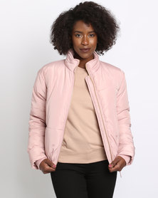 New Look Padded Puffer Jacket Nude