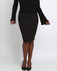 New Look Suit Split Back Midi Skirt Black