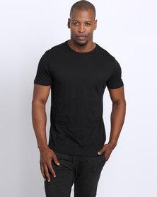 New Look Basic Crew T-Shirt Black