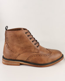 New Look Brogue Boot Brown
