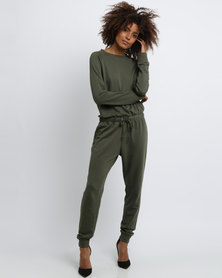 New Look Sweater Jumpsuit Dark Khaki