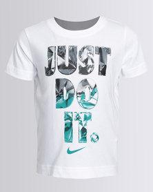 Nike Boys JDI Facets Tee White