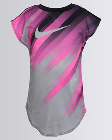 Nike Girls Speed Line Modern Tee Black