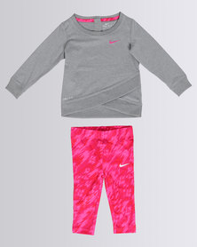Nike Tunic and Leggings Set Grey
