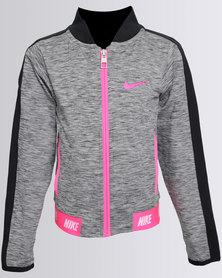 Nike Girls Sports Essential Zip Thru Hoodie Black