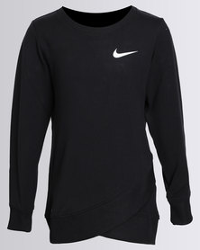 Nike Girls Crossover L/S Tunic Black