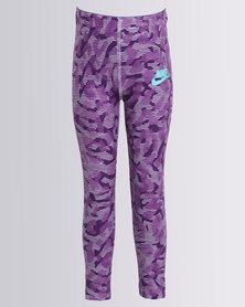 Nike Girls Nike Sportswear AOP ML Tights Berry