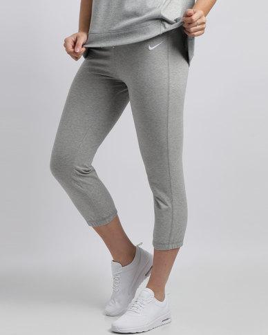 Nike Womens NSW Capri Jersey Pants Grey