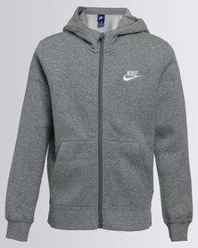 Nike Boys NSW Zip Thru Hoody Grey