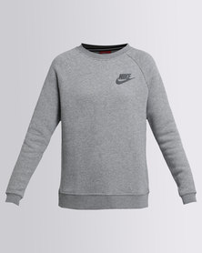 Nike Womens Nike Swoosh Rally Crew Grey