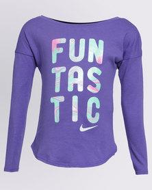 Nike Girls Funtastic L/S Tee Purple