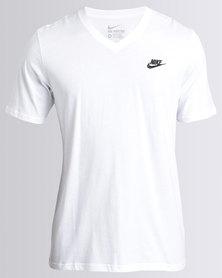 Nike M NSW Tee VNK Club EMBRD FTRA White