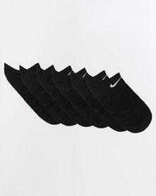 Nike Cushion No-Show 3 Pack Socks Black