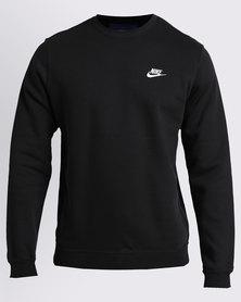 Nike M NSW CRW FLC Club Black/White