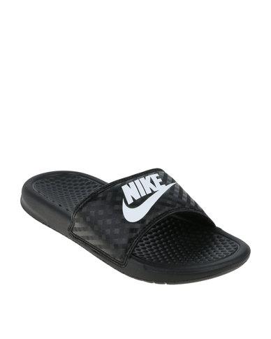 Amazing Low Price On Nike Womens Benassi JDI Slide BlackVivid PinkBlack