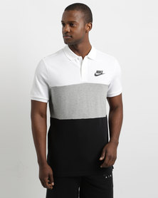 Nike Matchup Men's Polo White/Dark Grey/Heather/Black
