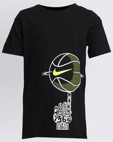 Nike Boys CTN Spinning Ball Tee Black