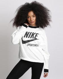 Nike Womens Nike Sports Wear Crew Archive White