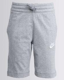Nike Boys Jersey Shorts Grey