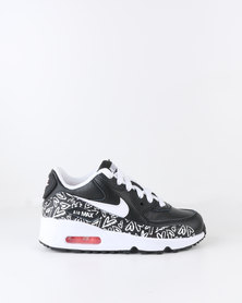 Nike Girls Air Max 90 Print Leather PS Sneaker Black