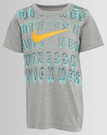 Nike Witness My Quickness Dri-Fit Tee Heather Grey