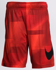 Nike Boys AOP Dry Shorts Red