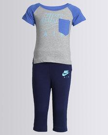 Nike NKB Nike Air French Terry Pants Set Blue