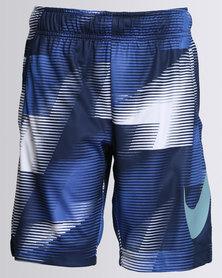 Nike Boys AOP Dry Shorts Blue