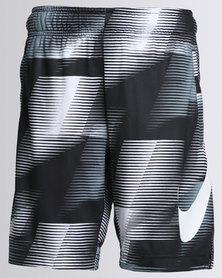 Nike Boys AOP Dry Shorts Black/White