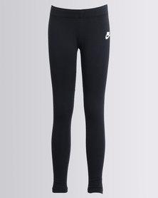 Nike Girls Club Logo Leggings Black