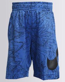 Nike Boys Dry AOP Fly Shorts Blue