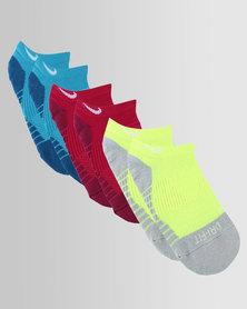 Nike Dry Cushion No-Show Socks 3 Pack Multi