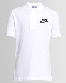 Nike Boys Polo SS Tee White