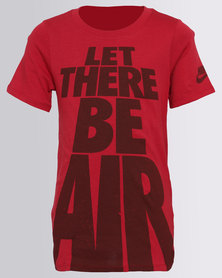 Nike Boys Let There Be Air Tee Red