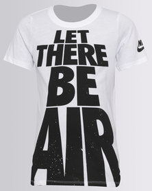 Nike Boys Let There Be Air Tee White