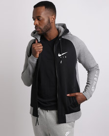 Nike Men's Sportswear Raglan Hoodie Carbon Heather