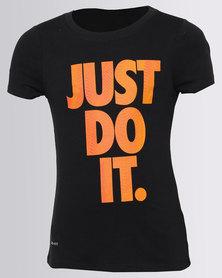 Nike Girls Tempest JDI Tee Black