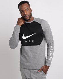 Nike Men's Sportswear Crew Grey