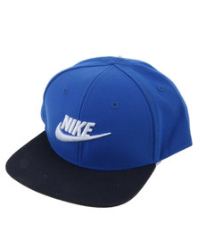 Nike Boys True Limiteless Snapback Peak Cap Royal Blue
