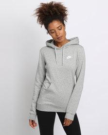 Nike W NSW Hoodie PO Fleece Grey