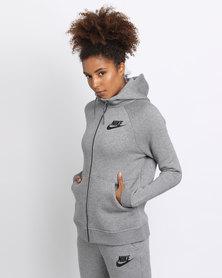 Nike Women's Sportswear Rally Hoodie Grey