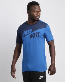 """Nike Sportswear """"Just Do It."""" T-Shirt Blue"""