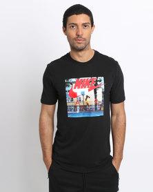 Nike Men's Sportswear Hybrid Photo T-Shirt Black