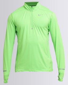 Nike Performance Dri-Fit Element Half-Zip Green