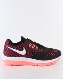 Nike Performance Women's  Air Zoom Winflow 4 Running Shoe Black/Pink
