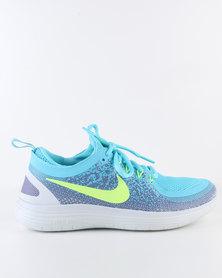 Nike Performance Womens Free Run Distance 2 Blue