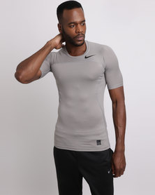 Nike Performance Men's pro Hypercool Top Grey