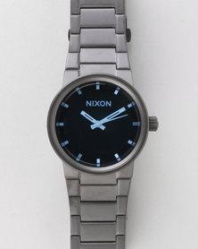 Nixon Gents Cannon Watch Gunmetal And Blue Crystal