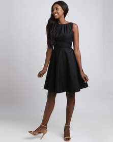 non-european Twist Dress Black